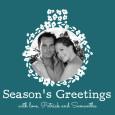 printable teal season's greeting cards