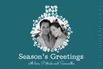 teal holiday season card
