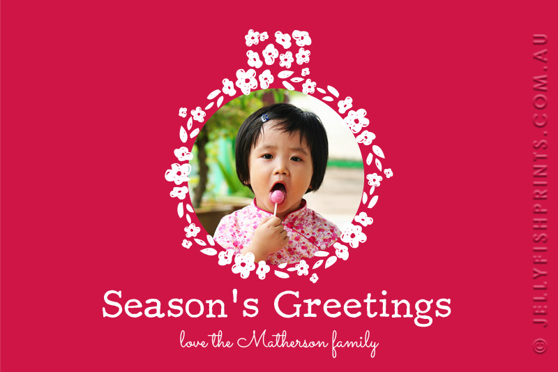 Print your holiday season greetings card design with your photo.