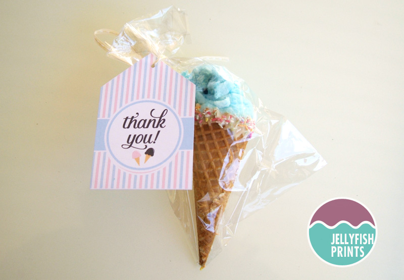 ice cream cone party favours