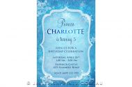 Party invitation for a frozen party