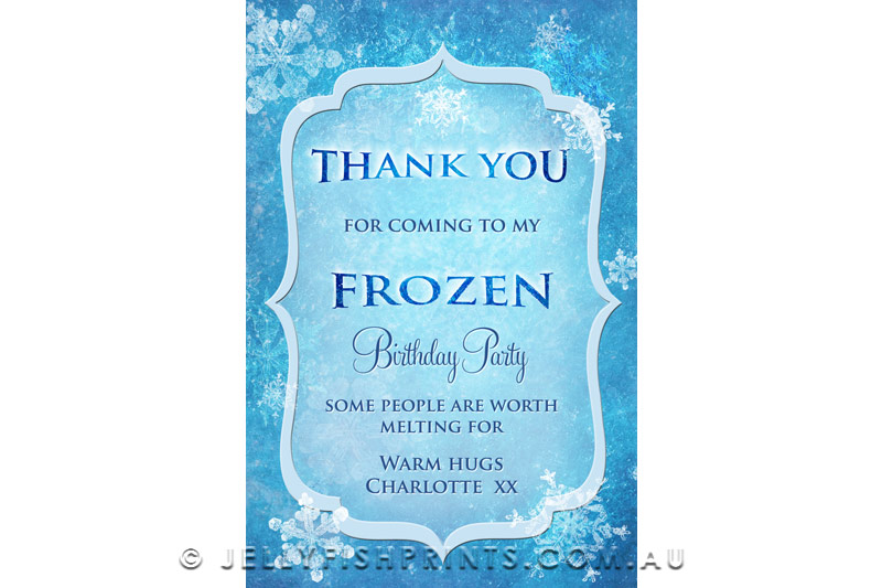 Printable ice princess invitations inspired by FROZEN -JellyfishPrints