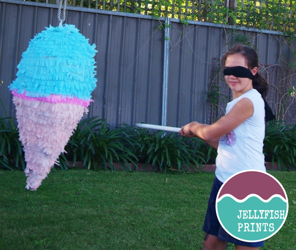 Ice cream pinata party game