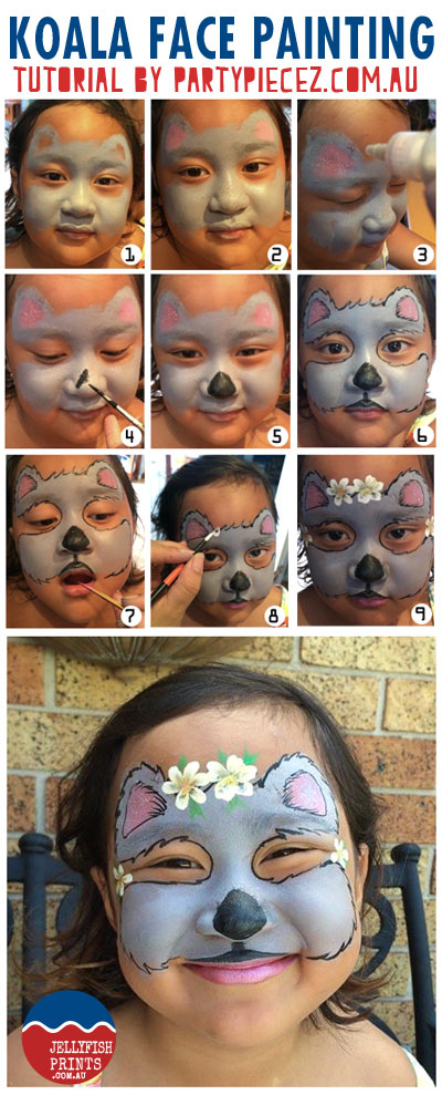 Face paint a Koala this Australia Day.