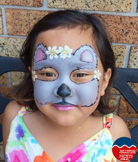 Koala Face painting tutorial - Jellyfish Prints