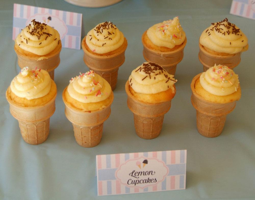 ice cream cupcake birthday party treats