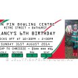 Printable red and green rugby league invitations