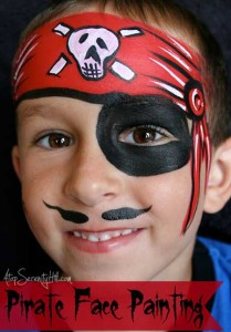 how to do pirate face paint