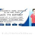 Printable NRL birthday party invitations.
