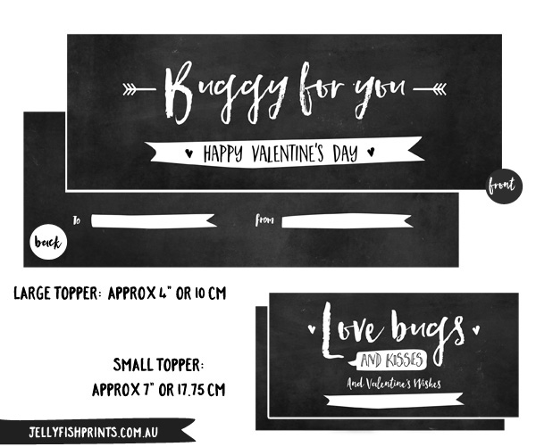 Printable Valentines lollybag topper Templates