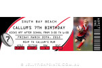 Rugby league invitation – red black