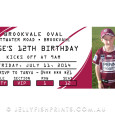 Printable Maroon and White Rugby League Invitations