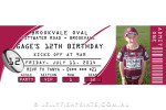Maroon Rugby Invitations
