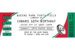 Red and Green coloured rugby league invitations