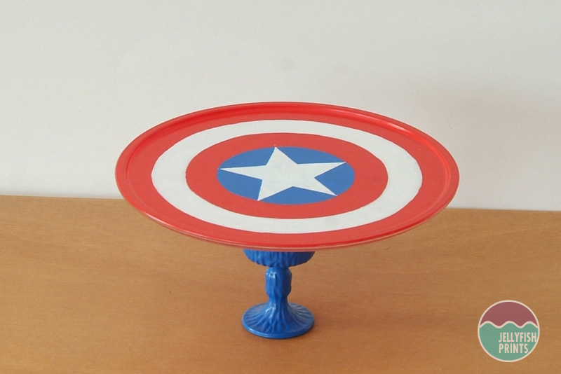 Captain America Cake Stand