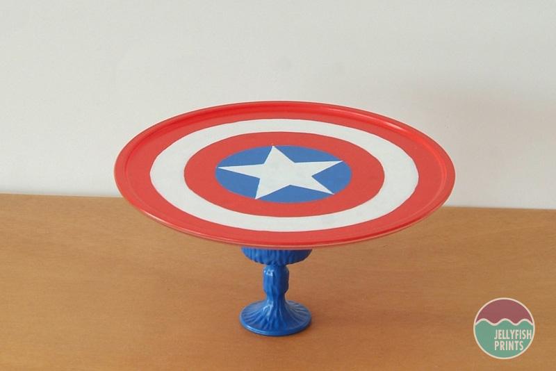 Captain America Cake Stand