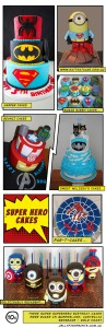 Awesome birthday superheroes cakes and a cool batman wedding cake from Queensland.