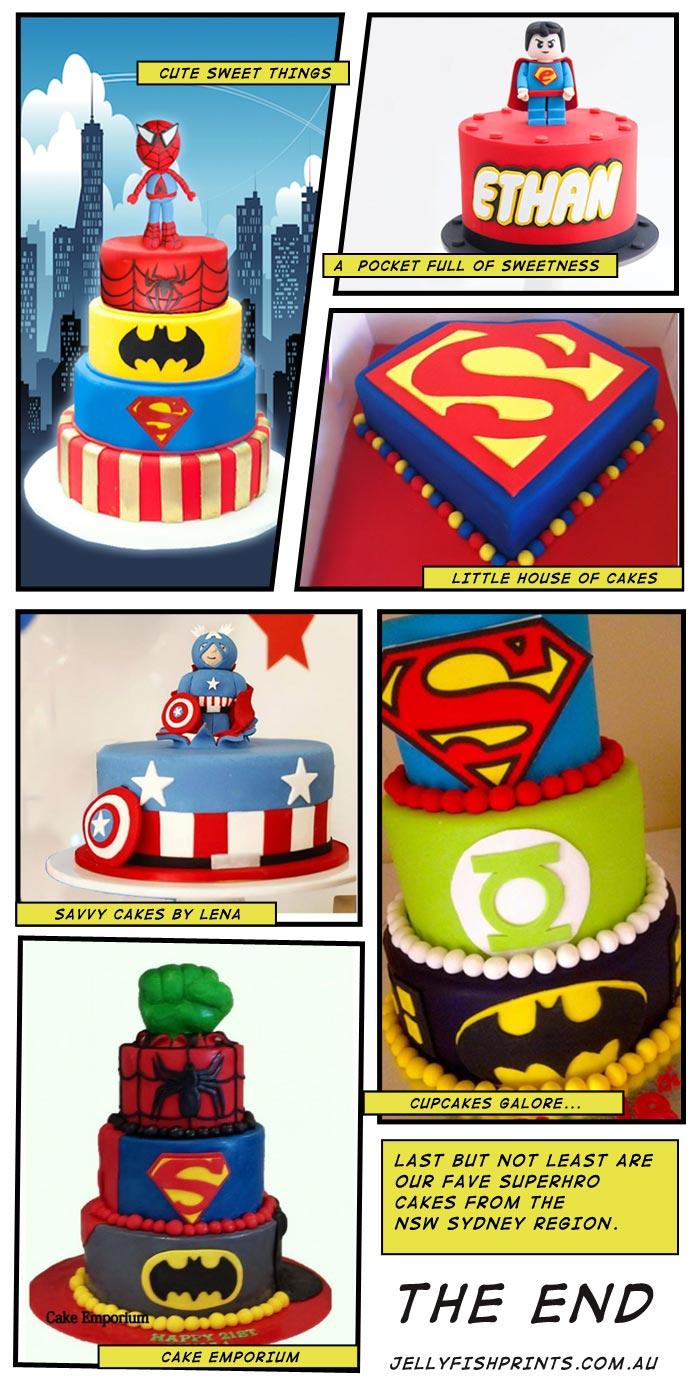 Super Hero Cakes - Jellyfish Prints