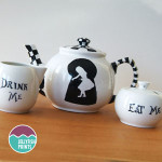 Alice in Wonderland teapot set