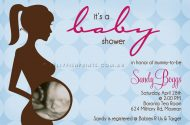 Ultrasound baby shower invitation