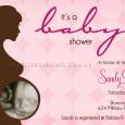 Pink ultrasound baby shower invite