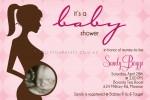 Pink ultrasound baby shower invitation