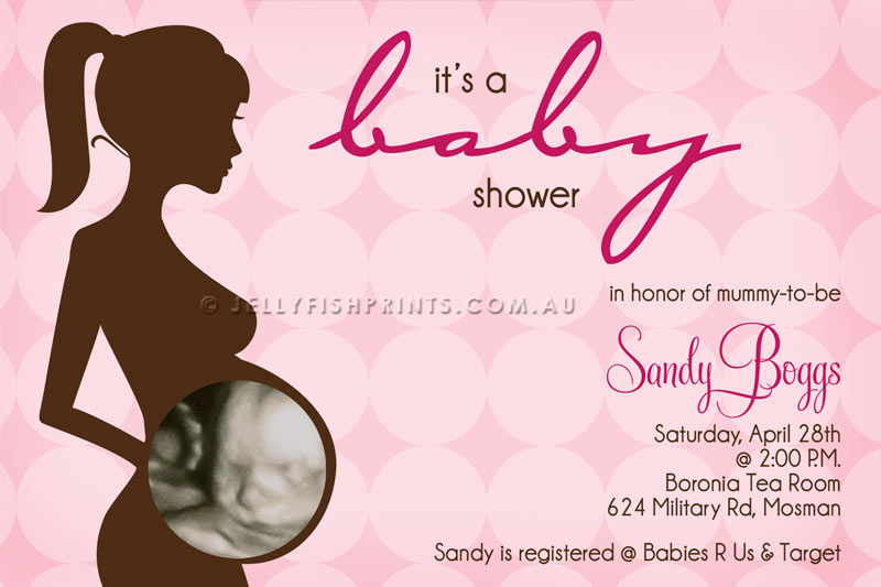 Baby shower invitations with ultrasound pic nemetasfgegabeltfo pink ultrasound baby shower invitation filmwisefo