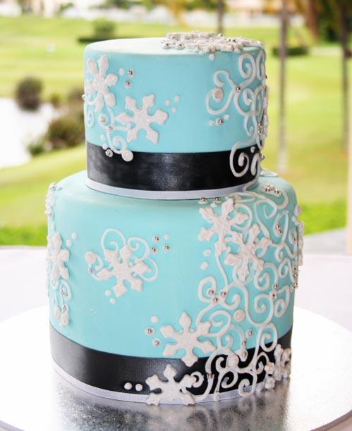 Winter Wonderland cake deign