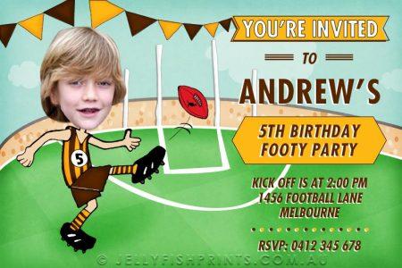 printable Aussie rules birthday invitations