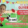 Gold coast suns AFL birthday invitations