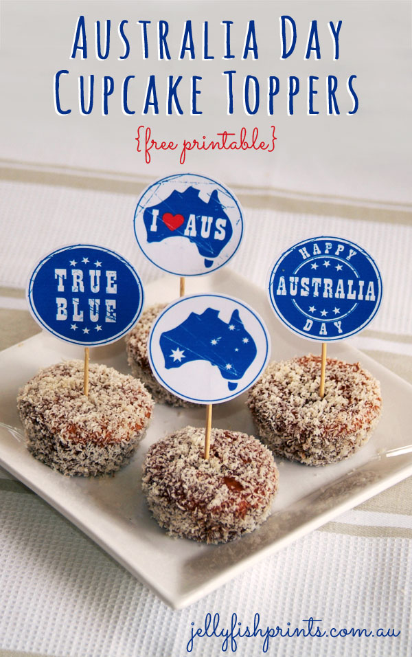 Australia Day Cupcake Toppers Free Printables