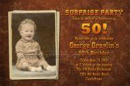 Single photo 50th birthday invitation