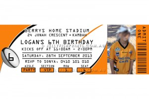 rugby league party invitations