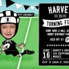 Rugby birthday party invitations for an all black fan.