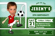 Printable Soccer Birthday Invitations for a boys football birthday party.