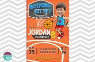 Basketball Party Invitation for purchase as a do it yourself printable.
