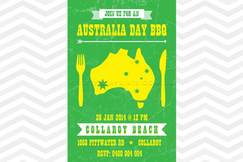Australia Day Invitation - Jellyfish Prints