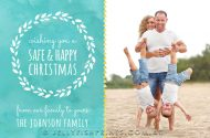 Gorgeous watercolor Christmas photo card.