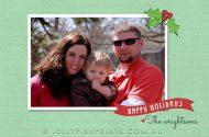 A printable Mistletoe Happy Holidays Card