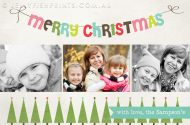 Printable Christmas holiday photo cards you can customise