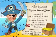 Treasure pirate party invitation