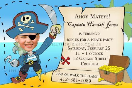 Treasure pirate party invitation
